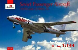 Amodel 1450 - 1/144 TU104 Soviet Turbo Jet Airliner Nato scale plastic model kit