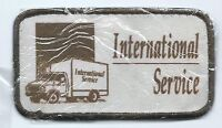 International Service employee/driver advertising patch 2-1/2 X 4-1/2 #411