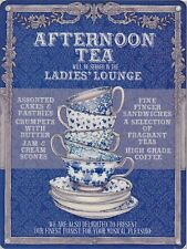 New 15x20cm Ladies' Lounge Afternoon Tea small metal advertising wall sign
