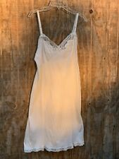 New listing Vintage 60s Kaiser Bridal Gown Beige Floral Dress Slip Large Nightgown