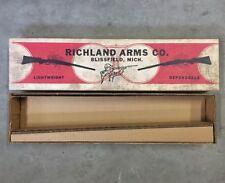 Vintage Richland Arms Co. Shotgun Box Only Empty Blissfield Mich. Michigan