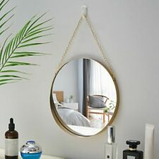 Hanging Mirror Metal Frame Wall Mounted Durable Decoration Bathroom Bedroom Gift