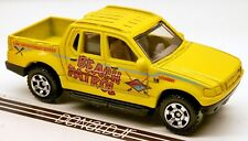 Matchbox 2001-05 Ford Explorer Sport Trac Truck Yellow Beach Patrol 1:69 Scale