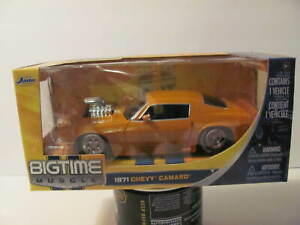 JADA Big Time Muscle 1:24 1971 Camaro from 2009 NEW - Orange with big blower