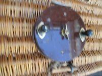 Vintage Eton Sun  Brass & Bakelite Saltwater Fishing Reel  6 inches diameter,
