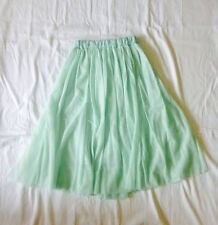 New! Green Tulle Petticoat Skirt 1950's Soft Tulle In Packaging