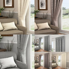 Carlton Leaf/Floral Tie Backs Pair - Matching Curtains Available