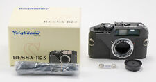 (148) Black Voigtlander Bessa-R2S in Nikon S mount w/cap strap box Mint-- READ