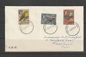 Tristan Da Cunha, 1963 Resettlement FDC, 1/2d, 2d & 1/- vals, addressed to Comma