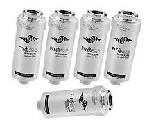5 x Filtro fitaqua antiscaling FILTRO ACQUA PER DOCCIA CONTRO cloro e calce