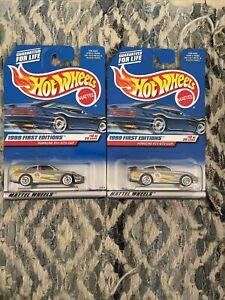 1999 Hot Wheels Porsche 911 GT3 Cup #912 Silver LW First Edition Lot Variation