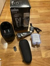 Braun Series 9 9293s Electric Rechargeable Shaver + Travel Case Charging Stand