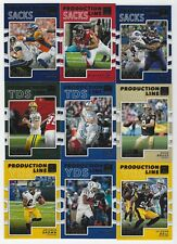 AARON RODGERS 2017 DONRUSS PRODUCTION LINE Complete  INSERT SET 1-40