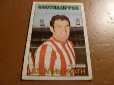 A & A.C. Chicle Fútbol Tarjeta 1972/73 Rojo Naranja atrás John McGrath Southampton