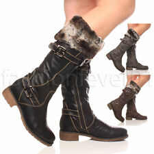 Women's Synthetic Leather Zip Mid-Calf Boots