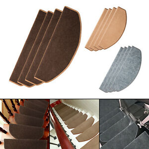 15Pcs Mats Step Staircase Stair Tread Carpet Non Slip Mat Protection Cover Pads