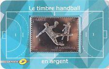 FRANCE 2012 - TIMBRE HANDBALL EN ARGENT - NEUF SOUS BLISTER - FACIALE 5€