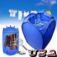 Portable Electric Clothing Dryer 800W Heater Folding Wardrobe Drying Rack Home