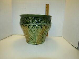McCoy jard.planter large multi glaze fresh estate find..nice...