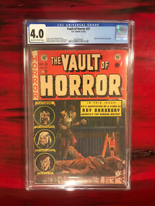 Vault of Horror #31 (EC 1953) CGC 4.0 Johnny Craig Cover Ray Bradbury Story PCH
