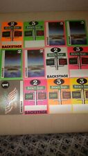 Lot Of 12 The Beach Boys Tour Issued Backstage Passes (Brian Wilson) 1980-82