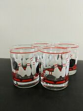 (G)Set Of 4 Bowling Glasses Short Whiskey Glasses Adult Game Night Poker Sports