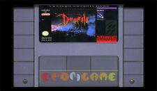 BRAM STOKER'S DRACULA Super Nintendo SNES Vers Americana NTSC ○○○ SOLO CARTUCCIA