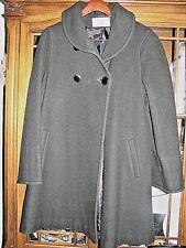 Ladies winter coat dark ash green womens 5/6 100%  pure wool  cloak  maternity