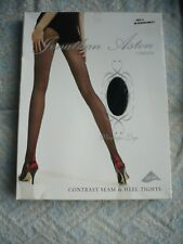 Jonathan Aston, Scarlet seamed black tights, size A ( Small )
