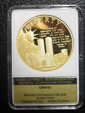 Münze / Medaille Liberty The American Spirit 2011 PP Cu-Ni vergoldet