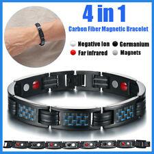 4 en 1 Bracelet Magnétique Acier Inox Bijoux Anti-Douleurs Arthrose Rhumatisme