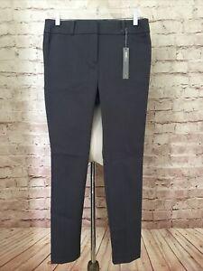 Ann Taylor LOFT Julie Skinny Ankle Length Pant Gray Stretch Size 4 $69 NEW