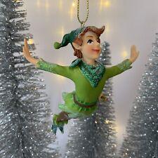 Peter Pan Hanging Christmas Tree Decoration Gisela Graham Fairy Children's