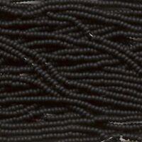 19 Grams Czech Glass Opaque Matte Jet Black #11 Seed Beads