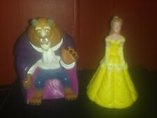 Walt Disney Princess Beauty and The Beast Large Rubber Figures Cake Topper Toys