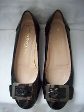 Russell & Bromley Black patent Leather Ballerina Flat Shoes EU 37.5. UK 4.5.