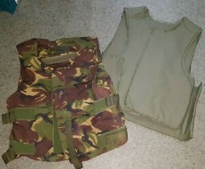 BRITISH ARMY ISSUED ECBA BODY ARMOUR VEST, WITH DPM CAMO COVER, 180/116