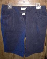 St. John's Bay Stretch Navy Blue Pinstriped Shorts. Size 10