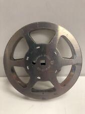 "Antique Russian 16mm 5"" 200ft Metal Film Reel Silver + Film"