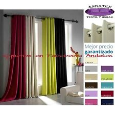 Cortina con ojales black out efecto foscurit, 140x260cm, gran surtido de colores
