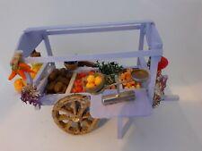 Charrette à bras marchand de fruits et légumes santons crèche
