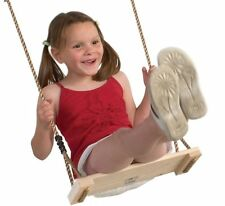 Classic Wooden Swing Seat With strong waterproof Ropes and steel rings