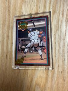 1995 Action Packed Minor League Player Of The Year Derek Jeter Auto Rookie Card