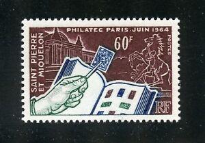 St. Pierre et Miquelon Complete MNH Single #369 Philatec Issue Stamp