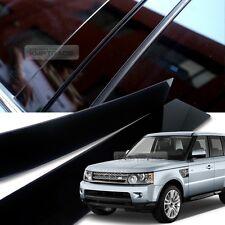 Glossy Black B C Pillar Post UV Cover 6P For LANDROVER 06-13 Range Rover Sports