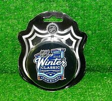 (2) 2016 WINTER CLASSIC OFFICIAL NHL HOCKEY PUCKS FOXBORO BRUINS CANADIENS