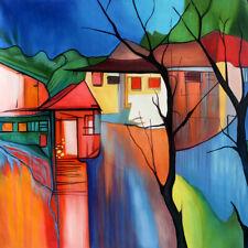 Wall Art Canvas Print,Itzchak Tarkay Landscape Oil Painting Modern Home Decor