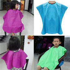 Kids Children Salon Waterproof Hair Cut Haircut Barbers Cape Gown Cloth UK