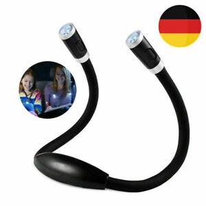 Wiederaufladbare Buchlampe LED Hals Leselampe Leselicht für Häkeln Lesen Xmas DE