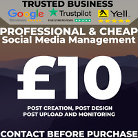SOCIAL MEDIA MANAGEMENT TRUSTED BUSINESS - Facebook, Twitter and Instagram